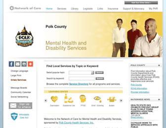 polk.ia.networkofcare.org screenshot