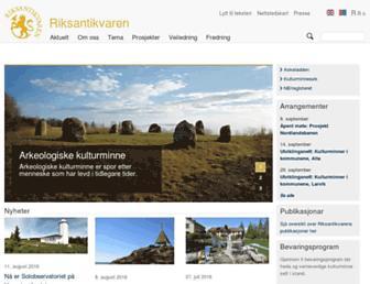 Thumbshot of Riksantikvaren.no