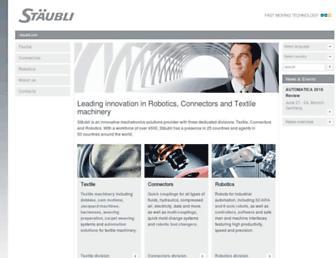 staubli.com screenshot