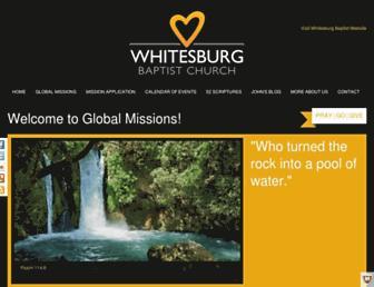 Main page screenshot of wbcglobal.org
