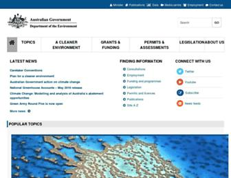environment.gov.au screenshot