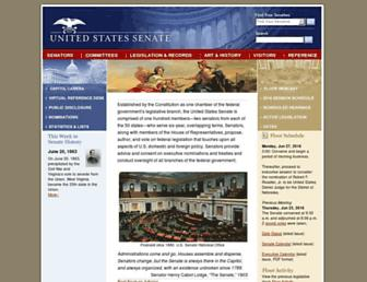 Main page screenshot of senate.gov