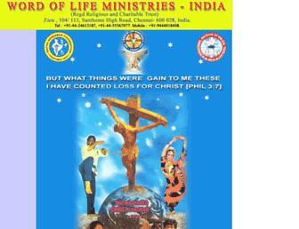 wordoflifeindia.org screenshot