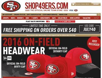 shop49ers.com screenshot