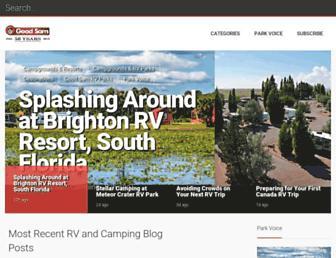 Main page screenshot of blog.rv.net