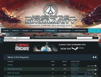 forums.ashesofthesingularity.com screenshot