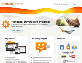 developers.nimbuzz.com screenshot