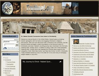 Main page screenshot of truthnet.org