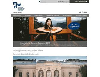 Thumbshot of Mdw.ac.at
