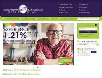 Main page screenshot of oecu.org