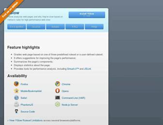 yslow.org screenshot