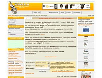 Main page screenshot of noogle.fr