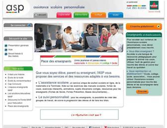 assistancescolaire.com screenshot