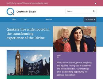 Thumbshot of Quaker.org.uk