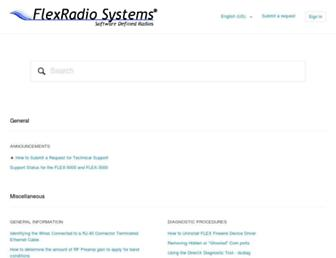 helpdesk.flexradio.com screenshot
