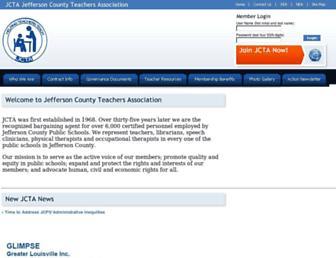 Main page screenshot of jcta.org