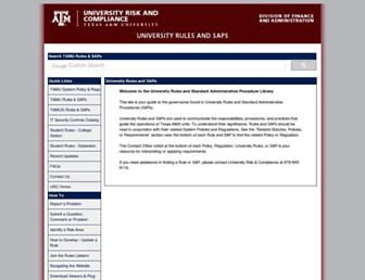 rules-saps.tamu.edu screenshot