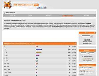 Main page screenshot of webmasterpark.net