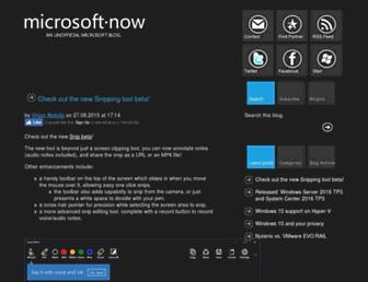 microsoftnow.com screenshot