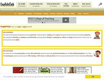englishclub.com screenshot