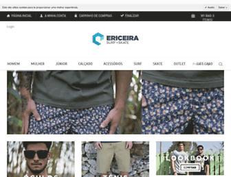 ericeirasurfshop.pt screenshot