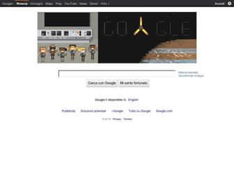 Main page screenshot of google.it