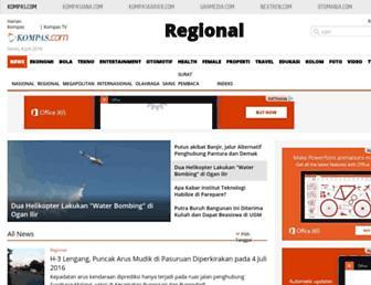 regional.kompas.com screenshot