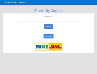 trackmycourier.com screenshot