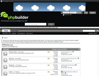 board.phpbuilder.com screenshot