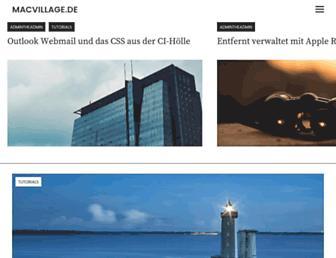 Main page screenshot of macvillage.de