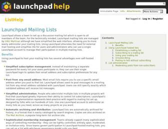 lists.launchpad.net screenshot