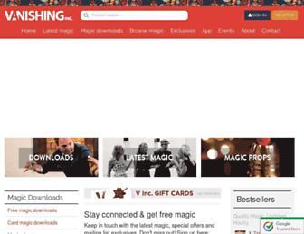 vanishingincmagic.com screenshot