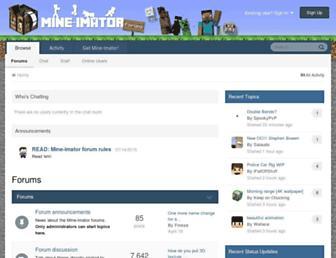mineimatorforums.com screenshot