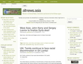 Main page screenshot of altnews.asia
