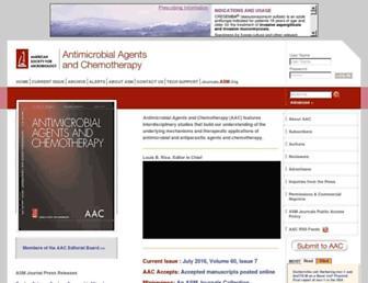 Main page screenshot of aac.asm.org