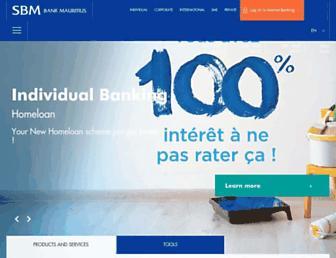 banking.sbmgroup.mu screenshot