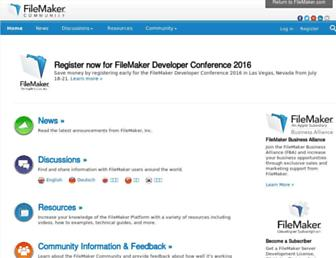 community.filemaker.com screenshot