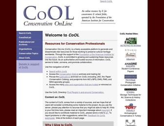 Main page screenshot of cool.conservation-us.org