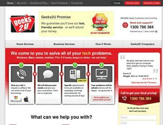 geeks2u.com.au screenshot