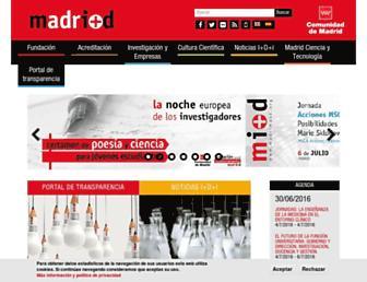 Main page screenshot of madrimasd.org