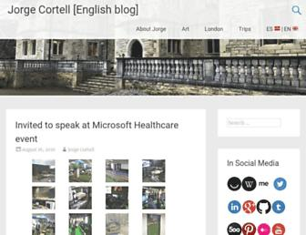 Main page screenshot of cortell.net