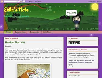 enhasnote.blogspot.com screenshot