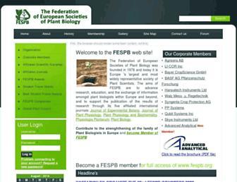 Main page screenshot of fespb.org