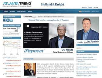 Main page screenshot of atlantatrend.org