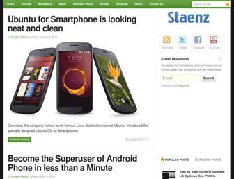 staenz.com screenshot