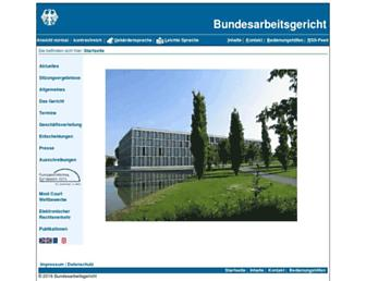 Main page screenshot of bundesarbeitsgericht.de