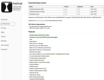 hashcat.net screenshot