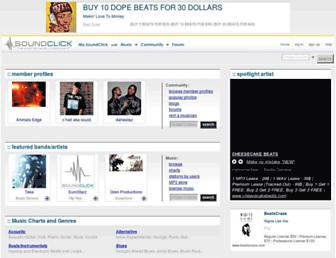 soundclick.com screenshot