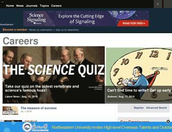 Thumbshot of Sciencecareers.org