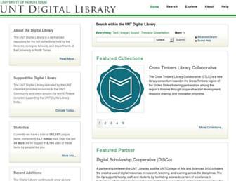 digital.library.unt.edu screenshot